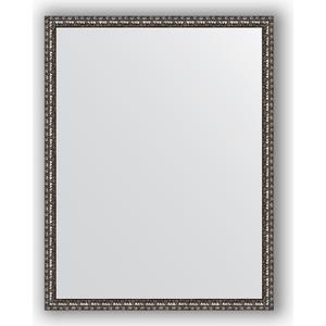 Зеркало в багетной раме поворотное Evoform Definite 70x90 см, черненое серебро 38 мм (BY 1033) зеркало с гравировкой evoform florentina 70x90 см by 5003