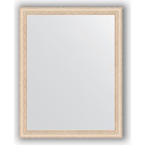Зеркало в багетной раме поворотное Evoform Definite 74x94 см, беленый дуб 57 мм (BY 1041) зеркало в багетной раме evoform definite 64x64 см беленый дуб 57 мм by 0781