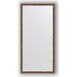Зеркало в багетной раме поворотное Evoform Definite 48x98 см, витая бронза 26 мм (BY 1047) цены
