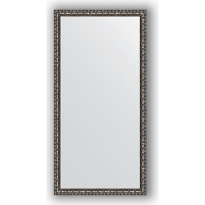 Зеркало в багетной раме поворотное Evoform Definite 50x100 см, черненое серебро 38 мм (BY 1048) зеркало в багетной раме поворотное evoform definite 54x144 см травленое серебро 59 мм by 0718