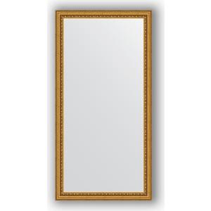 Зеркало в багетной раме поворотное Evoform Definite 52x102 см, бусы золотые 46 мм (BY 1052) зеркало в багетной раме поворотное evoform definite 71x151 см мозаика хром 46 мм by 3324