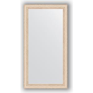 цены Зеркало в багетной раме поворотное Evoform Definite 54x104 см, беленый дуб 57 мм (BY 1056)