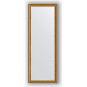 Зеркало в багетной раме поворотное Evoform Definite 52x142 см, бусы золотые 46 мм (BY 1067) evoform зеркало в багетной раме evoform 52x142 см 6322099 mpmxd6r 6322099