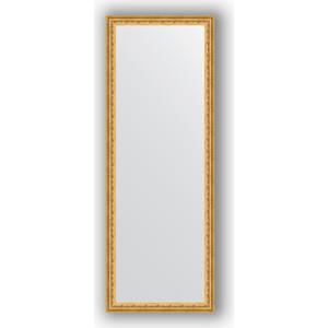 Зеркало в багетной раме поворотное Evoform Definite 52x142 см, сусальное золото 47 мм (BY 1068) evoform зеркало в багетной раме evoform 52x142 см 6322099 mpmxd6r 6322099