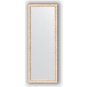 Зеркало в багетной раме поворотное Evoform Definite 54x144 см, беленый дуб 57 мм (BY 1071) зеркало в багетной раме evoform definite 64x64 см беленый дуб 57 мм by 0781