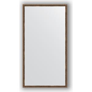 Зеркало в багетной раме поворотное Evoform Definite 58x108 см, витая бронза 26 мм (BY 1077) цены