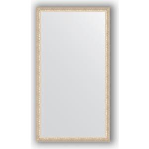 Зеркало в багетной раме поворотное Evoform Definite 61x111 см, мельхиор 41 мм (BY 1080) зеркало в багетной раме поворотное evoform definite 61x111 см мозаика хром 46 мм by 3196