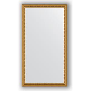 цены Зеркало в багетной раме поворотное Evoform Definite 62x112 см, бусы золотые 46 мм (BY 1082)