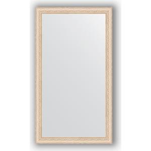 Зеркало в багетной раме поворотное Evoform Definite 64x114 см, беленый дуб 57 мм (BY 1086) зеркало в багетной раме evoform definite 64x64 см беленый дуб 57 мм by 0781