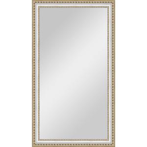Зеркало в багетной раме поворотное Evoform Definite 65x115 см, золотые бусы на серебре 60 мм (BY 1087)