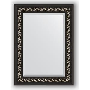 Зеркало с фацетом в багетной раме поворотное Evoform Exclusive 55x75 см, черный ардеко 81 мм (BY 1125) evoform exclusive by 1161