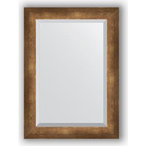 Зеркало с фацетом в багетной раме поворотное Evoform Exclusive 52x72 см, состаренная бронза 66 мм (BY 1128) evoform exclusive by 1161