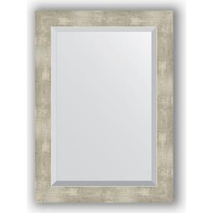 Зеркало с фацетом в багетной раме поворотное Evoform Exclusive 51x71 см, алюминий 61 мм (BY 1129) зеркало с фацетом в багетной раме поворотное evoform exclusive 71x161 см палисандр 62 мм by 1204