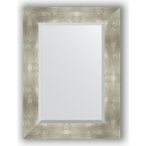 Зеркало с фацетом в багетной раме поворотное Evoform Exclusive 56x76 см, алюминий 90 мм (BY 1130) зеркало с фацетом в багетной раме поворотное evoform exclusive 111x171 см палисандр 62 мм by 1214
