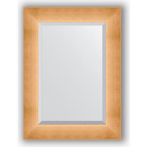 Зеркало с фацетом в багетной раме поворотное Evoform Exclusive 56x76 см, травленое золото 87 мм (BY 1131) зеркало в багетной раме поворотное evoform definite 54x144 см травленое серебро 59 мм by 0718
