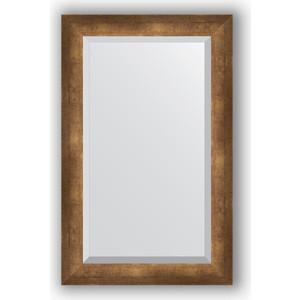 Зеркало с фацетом в багетной раме поворотное Evoform Exclusive 52x82 см, состаренная бронза 66 мм (BY 1138) зеркало с фацетом в багетной раме поворотное evoform exclusive 53x83 см прованс с плетением 70 мм by 3407