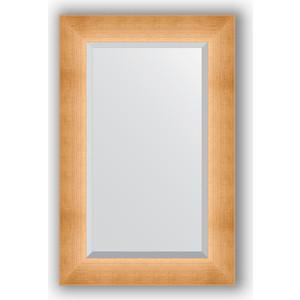 Зеркало с фацетом в багетной раме поворотное Evoform Exclusive 56x86 см, травленое золото 87 мм (BY 1141) зеркало с фацетом в багетной раме поворотное evoform exclusive 53x83 см прованс с плетением 70 мм by 3407