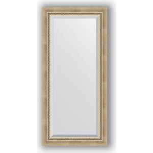 Зеркало с фацетом в багетной раме поворотное Evoform Exclusive 53x113 см, состаренное серебро с плетением 70 мм (BY 1142) винтовочный оптический прицел leapers 6 x 40