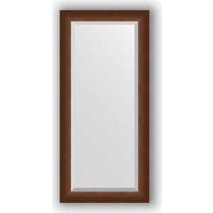 Зеркало с фацетом в багетной раме Evoform Exclusive 52x112 см, орех 65 мм (BY 1147) evoform exclusive by 1161