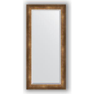 Зеркало с фацетом в багетной раме поворотное Evoform Exclusive 52x112 см, состаренная бронза 66 мм (BY 1148) зеркало с фацетом в багетной раме поворотное evoform exclusive 71x161 см палисандр 62 мм by 1204