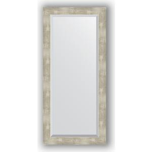 Зеркало с фацетом в багетной раме поворотное Evoform Exclusive 51x111 см, алюминий 61 мм (BY 1149) зеркало с фацетом в багетной раме поворотное evoform exclusive 51x111 см палисандр 62 мм by 1144