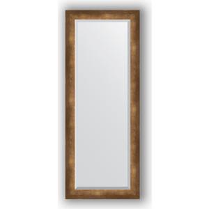Зеркало с фацетом в багетной раме поворотное Evoform Exclusive 52x132 см, состаренная бронза 66 мм (BY 1158)