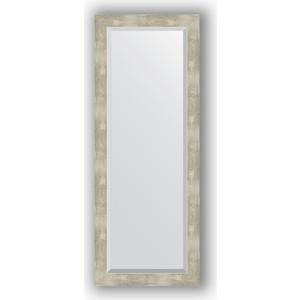Зеркало с фацетом в багетной раме поворотное Evoform Exclusive 51x131 см, алюминий 61 мм (BY 1159) зеркало с фацетом в багетной раме поворотное evoform exclusive 53x83 см прованс с плетением 70 мм by 3407
