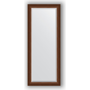 Зеркало с фацетом в багетной раме Evoform Exclusive 57x142 см, орех 65 мм (BY 1167) evoform exclusive by 1239
