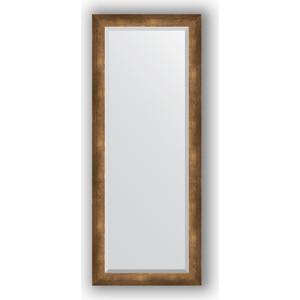 Зеркало с фацетом в багетной раме поворотное Evoform Exclusive 57x142 см, состаренная бронза 66 мм (BY 1168) зеркало с фацетом в багетной раме поворотное evoform exclusive 53x83 см прованс с плетением 70 мм by 3407