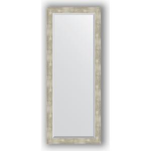 Зеркало с фацетом в багетной раме поворотное Evoform Exclusive 56x141 см, алюминий 61 мм (BY 1169) зеркало с фацетом в багетной раме поворотное evoform exclusive 51x111 см палисандр 62 мм by 1144
