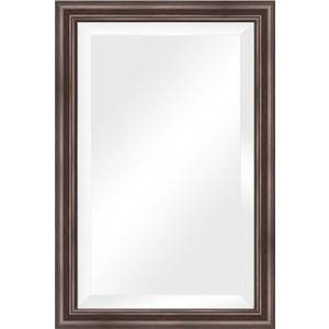 Зеркало с фацетом в багетной раме поворотное Evoform Exclusive 61x91 см, палисандр 62 мм (BY 1174) зеркало с фацетом в багетной раме поворотное evoform exclusive 51x111 см палисандр 62 мм by 1144