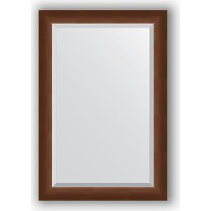 Зеркало с фацетом в багетной раме Evoform Exclusive 62x92 см, орех 65 мм (BY 1177) evoform exclusive by 1161