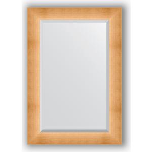 Зеркало с фацетом в багетной раме поворотное Evoform Exclusive 66x96 см, травленое золото 87 мм (BY 1181) зеркало в багетной раме поворотное evoform definite 54x144 см травленое серебро 59 мм by 0718