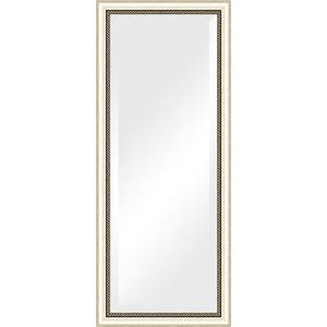 Зеркало с фацетом в багетной раме поворотное Evoform Exclusive 63x153 см, состаренное серебро с плетением 70 мм (BY 1182) зеркало с фацетом в багетной раме поворотное evoform exclusive 53x83 см прованс с плетением 70 мм by 3407