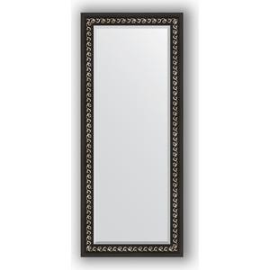 Зеркало с фацетом в багетной раме поворотное Evoform Exclusive 65x155 см, черный ардеко 81 мм (BY 1185) зеркало с фацетом в багетной раме поворотное evoform exclusive 53x83 см прованс с плетением 70 мм by 3407