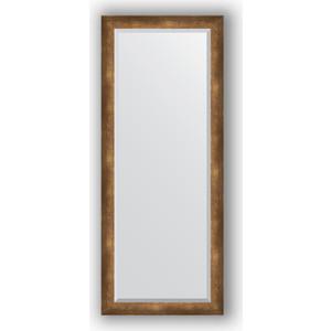 Зеркало с фацетом в багетной раме поворотное Evoform Exclusive 62x152 см, состаренная бронза 66 мм (BY 1188) зеркало с фацетом в багетной раме поворотное evoform exclusive 53x83 см прованс с плетением 70 мм by 3407
