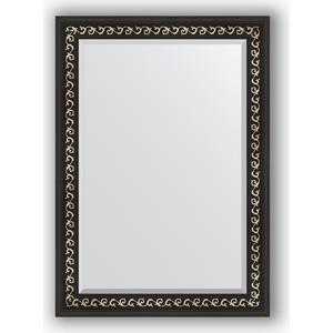 Зеркало с фацетом в багетной раме поворотное Evoform Exclusive 75x105 см, черный ардеко 81 мм (BY 1195) evoform exclusive by 1161