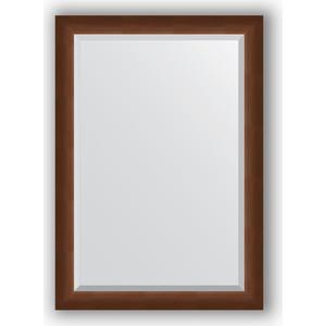 Зеркало с фацетом в багетной раме Evoform Exclusive 72x102 см, орех 65 мм (BY 1197) evoform exclusive by 1161