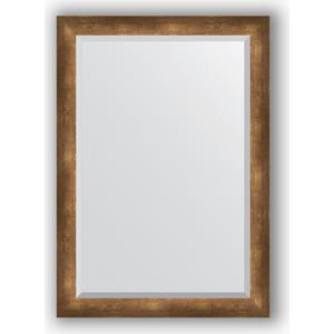 Зеркало с фацетом в багетной раме поворотное Evoform Exclusive 72x102 см, состаренная бронза 66 мм (BY 1198) зеркало evoform by 3195