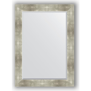 Зеркало с фацетом в багетной раме поворотное Evoform Exclusive 76x106 см, алюминий 90 мм (BY 1200) зеркало evoform by 0774