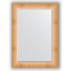 Зеркало с фацетом в багетной раме поворотное Evoform Exclusive 76x106 см, травленое золото 87 мм (BY 1201) зеркало в багетной раме поворотное evoform definite 54x144 см травленое серебро 59 мм by 0718