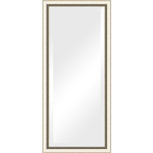 Зеркало с фацетом в багетной раме поворотное Evoform Exclusive 73x163 см, состаренное серебро с плетением 70 мм (BY 1202) зеркало с фацетом в багетной раме поворотное evoform exclusive 53x83 см прованс с плетением 70 мм by 3407