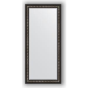 Зеркало с фацетом в багетной раме поворотное Evoform Exclusive 75x165 см, черный ардеко 81 мм (BY 1205) зеркало с фацетом в багетной раме поворотное evoform exclusive 53x83 см прованс с плетением 70 мм by 3407