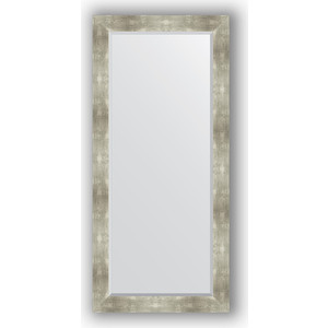 Зеркало с фацетом в багетной раме поворотное Evoform Exclusive 76x166 см, алюминий 90 мм (BY 1210) зеркало с фацетом в багетной раме поворотное evoform exclusive 76x166 см фреска 84 мм by 1309