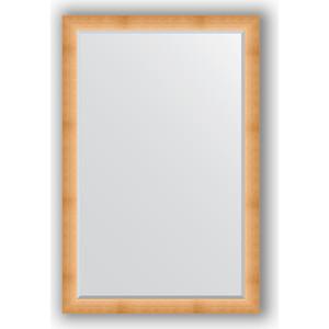 Зеркало с фацетом в багетной раме поворотное Evoform Exclusive 116x176 см, травленое золото 87 мм (BY 1221) зеркало в багетной раме поворотное evoform definite 54x144 см травленое серебро 59 мм by 0718