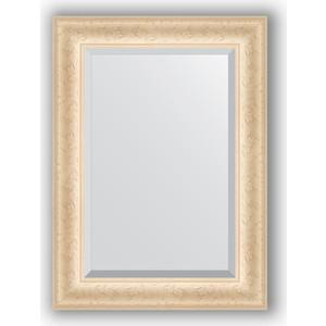 Фотография товара зеркало с фацетом в багетной раме Evoform Exclusive 55x75 см, старый гипс 82 мм (BY 1222) (571588)