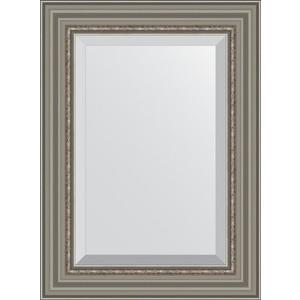 Зеркало с фацетом в багетной раме поворотное Evoform Exclusive 56x76 см, римское серебро 88 мм (BY 1227)