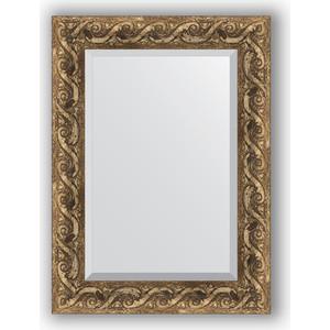 Зеркало с фацетом в багетной раме поворотное Evoform Exclusive 56x76 см, фреска 84 мм (BY 1229) зеркало с фацетом в багетной раме evoform exclusive 56x86 см фреска 84 мм by 1239