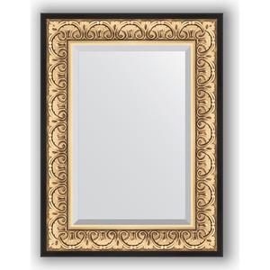 Зеркало с фацетом в багетной раме поворотное Evoform Exclusive 60x80 см, барокко золото 106 мм (BY 1231) платье befree befree be031ewylt56