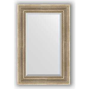 Зеркало с фацетом в багетной раме поворотное Evoform Exclusive 57x87 см, серебряный акведук 93 мм (BY 1238) 1238
